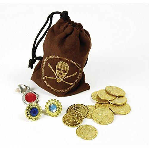 Bristol Novelty ba1089Piraten Münzen und Schmuck, eine Größe