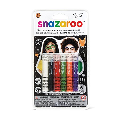Snazaroo Set 6 Schminkstifte - Halloween Malen Weiß Gesicht