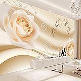 Ohcde Dheark Moderne, Einfache Gelbe Blumen Perle Fototapete Wandbilder Wohnzimmer Hintergrund Tapete Home Decor Papel D