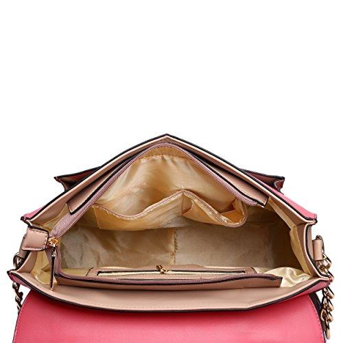 Miss Lulu, Borsa a secchiello donna rosa - rosa