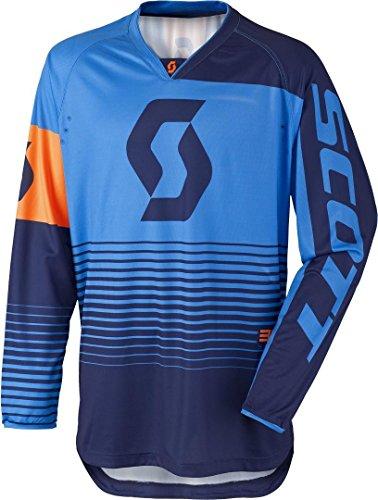 Scott 350 Track Kids Kinder MX Motocross Jersey/DH Fahrrad Trikot blau/orange 2017: Größe: XL (158)