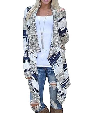 Femmes Casual Cardigan Manteau Tricot Manches Longues Tricoté Pulls Gilet Outwear Tops L