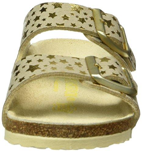 Birkenstock Arizona Mikrofaser, Ciabatte Bambina Oro (Gold (Starry Sky Gold))