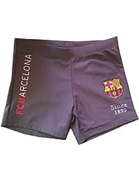 FC Barcelone - Boxer de bain FC Barcelone enfant gris Taille de 6 à 14 ans - 6 - 8 ans,8- 10 ans,10-12ans,12 - 14 ans