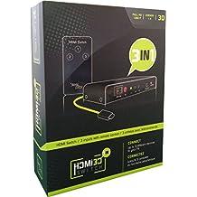 Switch HDMI 3 En 1 3D - Ultra HD - 1080P + Telecommande + Cable HDMI [Importación Francesa]