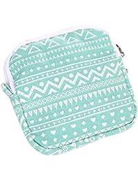Green : Kingko Women Girl Cute Sanitary Pad Organizer Holder Sanitary Pad Portable Storage Bag Napkin Towel Convenience...