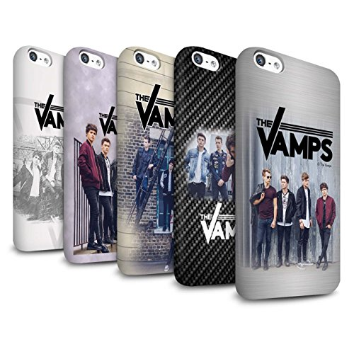 Offiziell The Vamps Hülle / Matte Snap-On Case für Apple iPhone 5C / Pack 6pcs Muster / The Vamps Fotoshoot Kollektion Pack 6pcs