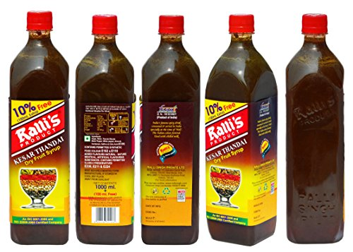 Ralli's Thandai Dry Fruit Syrup – 1000ML+ Free 100ML