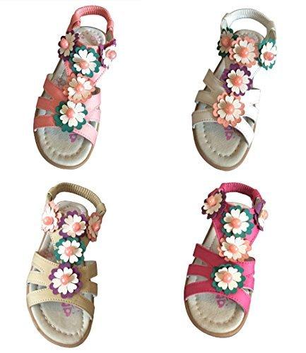 Été Filles Sandales Plates Chaussure Enfant