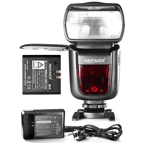 Neewer NW850II 2.4G Wireless Manual 1/8000 HSS Master/Slave Flash Speedlite for Canon Nikon Pentax Olympus and Other DSLR Cameras with 2000mAh Li-ion Battery to Provide 650 Flashes in 1.5 Seconds