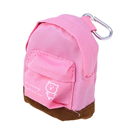 BESTOYARD Rucksack Münztüte Mini Oxford Cloth Wallet Hand Pouch Purse Schlüsselanhänger Schlüsselanhänger (Pink) - Pink-münzen-geldbeutel-schlüsselanhänger