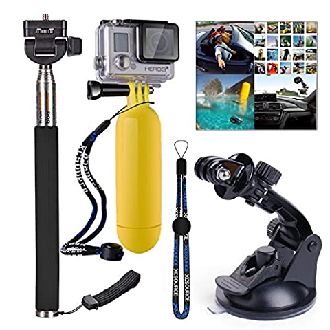 XCSOURCE® Set 3 in 1 Monopod Floating Hand Grip Handle + Hot Car Suction Cup + Monopod with strap for Gopro Hero 2 3 3+ 4