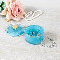 Decorativo Pequeño Squat Vintage estilo parisino azul cristal decorativo de almacenamiento tarro – encantador, duradero y tarro de cristal de colores para ...