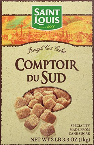 Amber Cane (Pure Natural Amber Cane Sugar in Cubes from France 2 lbs 3.3 oz. /1 Kg by Saint Louis)