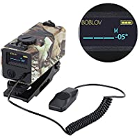 700m Mini Tactical Outdoor Hunting Rangefinder Rifle Scope Sight Target Riflescope Mate Distance Meter Speed Measurer with Rail Mount Lightweight