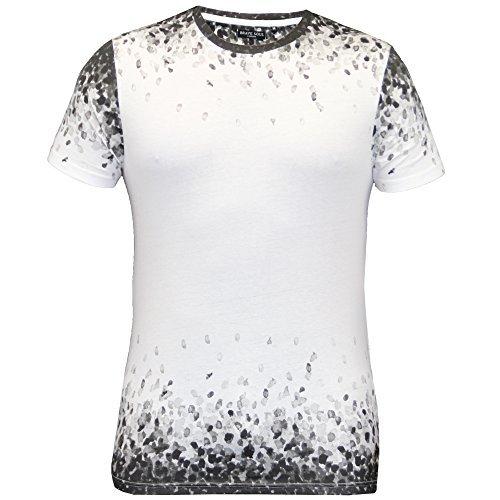 Herren T-shirt Brave Soul Kurzärmeliges Top Rundhals Aufdruck Baumwolle Freizeit Sommer Schwarz/weiß - 69SALVATION