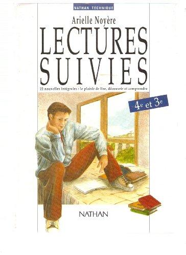 Lectures suivies, 4e-3e, élève par Arielle Noyère