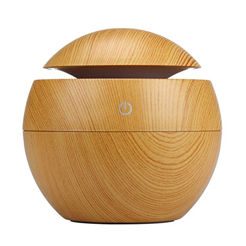 Kingwo Aroma Ultrasonic Humidifier USB LED Huile Essentielle Diffuseur Purificateur d'air jaune