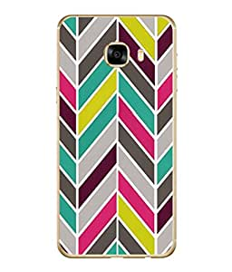 PrintVisa Designer Back Case Cover for Samsung Galaxy C7 SM-C7000 (Tribal art coloured design pattern)