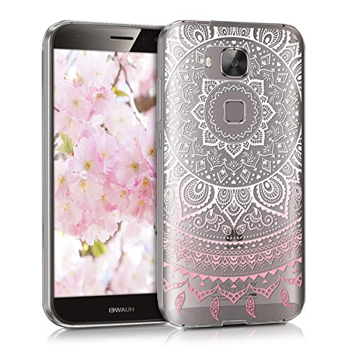 kwmobile Huawei G8 / GX8 Hülle - Handyhülle für Huawei G8 / GX8 - Handy Case in Rosa Weiß Transparent