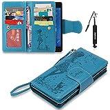 Huphant Compatible for Xperia Z3 Hülle, Xperia Z3 Tasche Leder, Flip Case Leder [9 Credit Cards Case Wallet Case Magnet Case Schutzhülle Klappbar für Sony Xperia Z3(5.2
