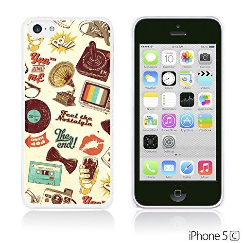OBiDi - Cartoon Pattern Hardback Case / Housse pour Apple iPhone 5C - Yellow Bear Retro Icons