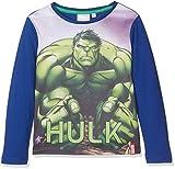 Marvel Avengers Muscle Team, T-Shirt Bambino, Blu (Blue 19-3952TC), 5-6 Anni