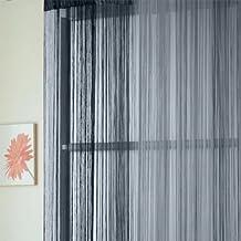 fitTek® Cortina de Hilo Estor Ventana Casa Decoración Accesorio Color Plata