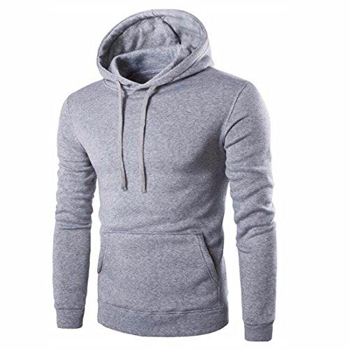 Men's Sweat Shirt Work Wear Tops Lots Casual Hoodies gray