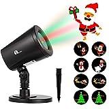 1byone Motifs Spot de Noël Projecteur LED Lumière Exterieur Eclairage pour Noël...