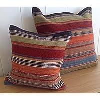 Commercio equo e solidale Ooty kilim cuscino 60cm–multicolore