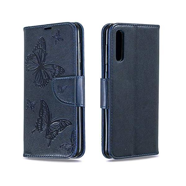 Libro Billetera Funda Samsung Galaxy A50 Funda Cuero Caja Cartera Funda Cuero en TPU Silicone Funda Folio Flip Carcasa… 2