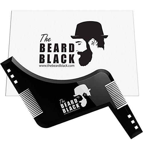 Bart-Gestaltung & Styling-Tool mit eingebautem Kamm für perfekten Line Up & Edging, verwenden Sie mit einem Bart Trimmer oder Rasiermesser, um Ihre Bart & Gesichtsbehaarung, Premium-Qualität Produkt von The Beard Black