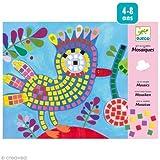 Djeco Sticker Mosaic Craft Kit, Bird and Ladybug by Djeco