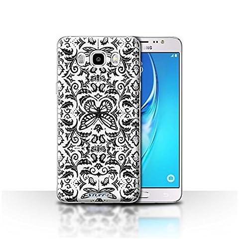 Coque de Stuff4 / Coque pour Samsung Galaxy J5 2016 / Noir / Blanc Design / Motif médaillon Collection