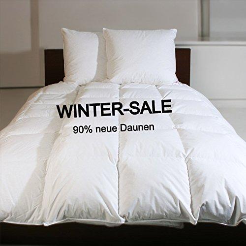 REVITAL Winter Daunendecke extra warm 155x220 cm, Daunenbett, 1600g 90% Daunen, Wärmeklasse 5, 8cm hohe Innenstege, MADE IN GERMANY (155x220 cm)