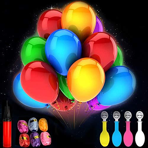 IMAGE 30Pcs Globos Led Colores Globos Luz para Fiesta Boda Fiesta Cumpleaños Navidad Reunión Ceremonia