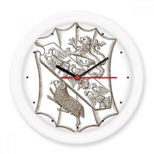 BeatCong Schwarz-weiße Barock-Kunst Schild-Löwe-Vogel Schaf Illustration Muster Stille Nicht tickt...