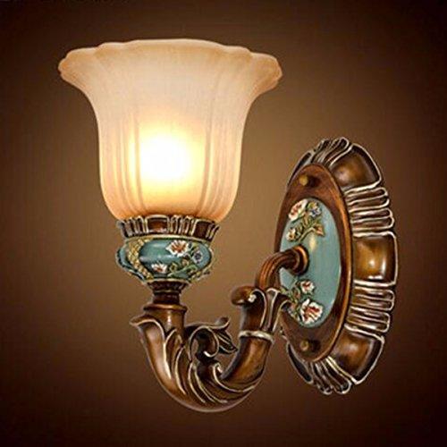 CJSHV-wandleuchteeuropäischen stil retro - bett lampe wand lampe wand lampe schlafzimmer amerikanischen wohnzimmer tv - wand - lampen zum carven handbemalte,ein