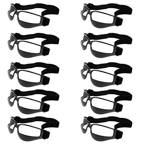 Gazechimp Basketball Dribbeln Trainingsbrille - beim Dribbeln ohne nach unten zu schauen - Training Üben Praxis Brille 10er/Pack, Schwarz (Basketball Brille)