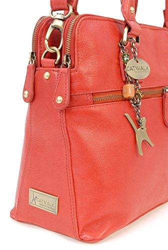 Catwalk Collection Large Shoulder Tote – Victoria – Red