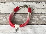 Tau-Halsband Größe 35-37cm Rot Ombre
