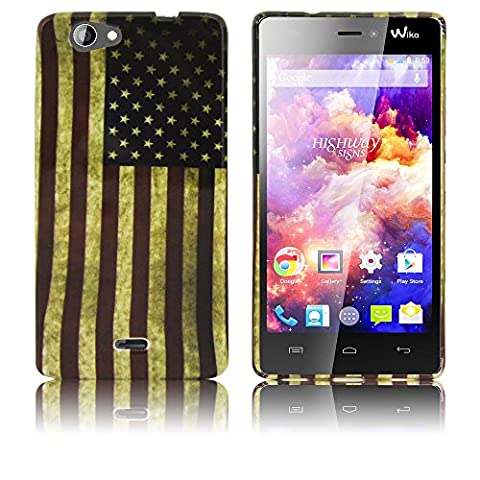 Wiko Highway Signs Etui en silicone USA case coque housse smartphone bumper Flip bag Cover protection