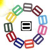 CUSHY 50pcs / Lot 3/4 & quot; Bunte Triglides justieren Wölbung für Hundehalsband Harness Rucksack-BüGel-gewebtes Material 20mm: Mix Farben