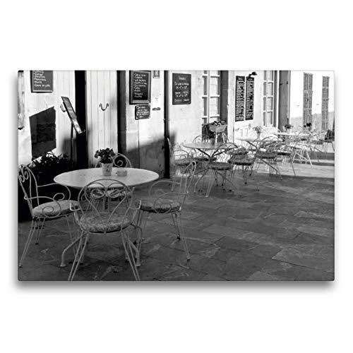 Premium Textil-Leinwand 75 x 50 cm Quer-Format Straßencafe in Arta   Wandbild, HD-Bild auf Keilrahmen, Fertigbild auf hochwertigem Vlies, Leinwanddruck von happyroger -