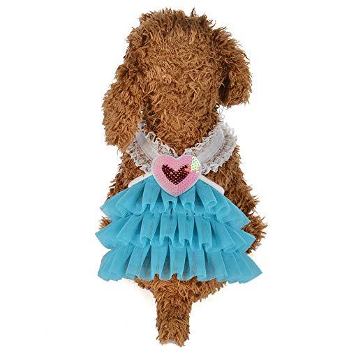 Rosennie Mode Pet Kleidung Haustier Hund Kleidung Haustier Katze Hund Kleid Sommer Spitze Kleid Haustier Rüsche Mesh Drucken Prinzessin Dress Hund Kleid Für Hund Tutu Kleid Rock -
