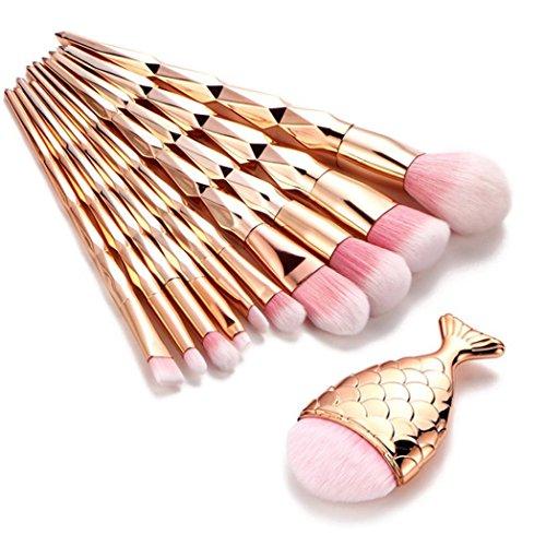 Kanpola Beauty Pinselset 11PCS Make Up Foundation Eyebrow Eyeliner Blush Cosmetic Concealer Brushes