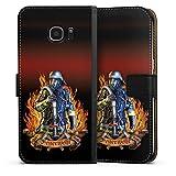 DeinDesign Samsung Galaxy S7 Edge Tasche Leder Flip Case Hülle Feuerwehrmann Feuerwehr Firefighter
