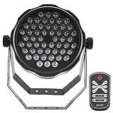 Zoternen LED Effektstrahler, 54 STK 4 farbige Disco Bühnenlicht, DMX, Auto, Voice Steuermodus, Bühnenbeleuchtung für Party Bar und Geburtsta