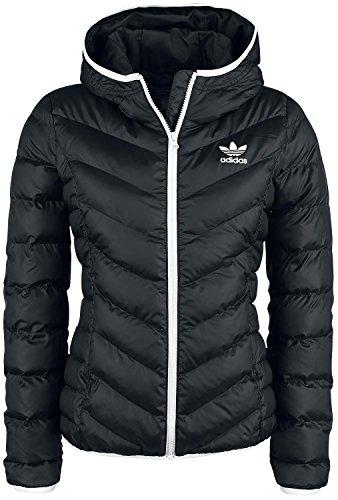 adidas Damen Slim Kapuzenjacke, Black, 38